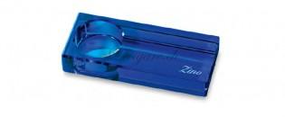 Cendrier Zino verre optique Bleu